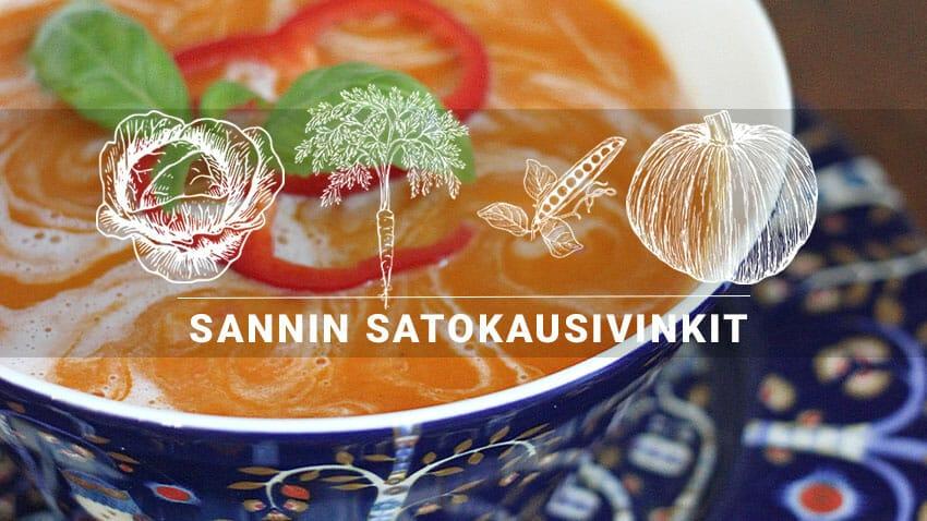 Sannin satokausivinkit | Huhtikuu: Kasviksista korvikkeita viljatuotteille